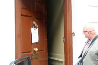 Ben Franklin's door.
