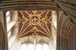 Tower ceiling at St. Laurence Church, Ludlow.
