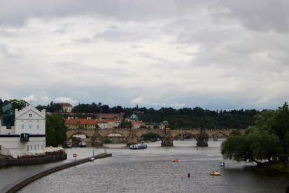 The river,and the Charles Bridge, from the south.