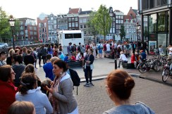 This line meant at least 45 more minutes before we got in the Anne Frank House.