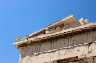 Reliefs still in the east pediment.