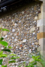 Detail of church wall.