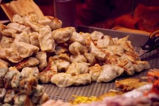 Dumplings for sale.