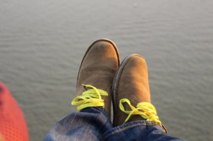 My feet. Over the NYC harbor.