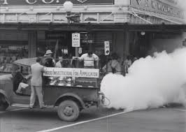 Spraying DDT to Eradicate Polio
