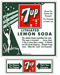 Lithium in 7UP Lemon Lime