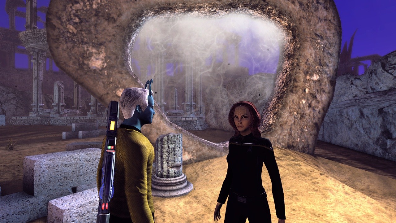 With Miral Paris and the Guardian of Forever in Star Trek Online.