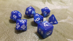 Several multi-sided dice