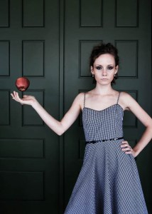 Sarah magically levitates an apple