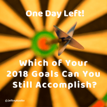One Day Remains in 2018, So ACT!
