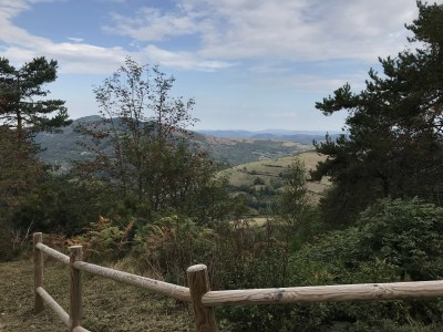 A view along the Camino near Pedrafita do Cebreiro, Galicia, Spain