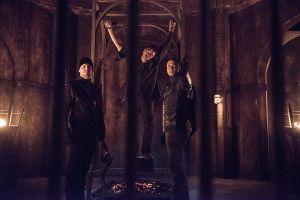 Arrow-Nanda-Parbat-Oliver, Merlyn and Diggle