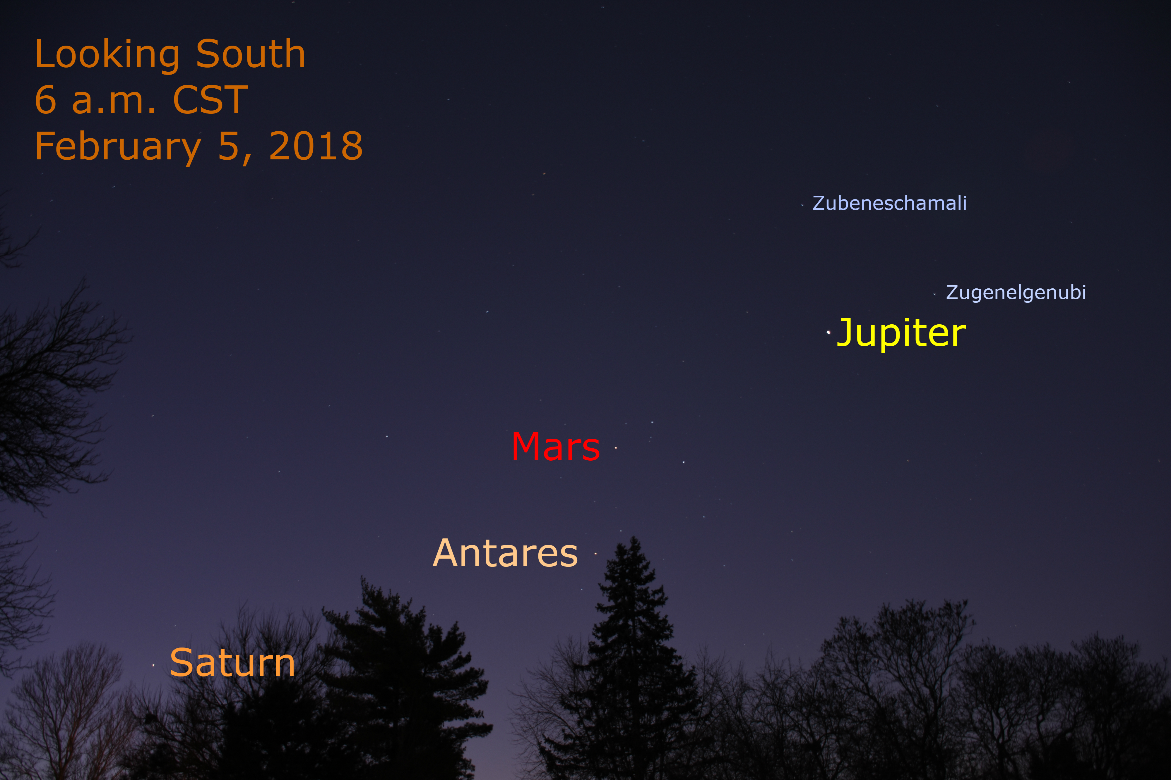 February 5 Jupiter Mars And Saturn When The