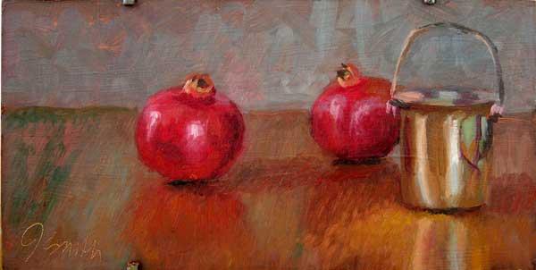 Pomegranates and the Silver Jar