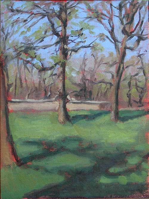Plein Air Painting: On the Park Lawn With My Pochade Box