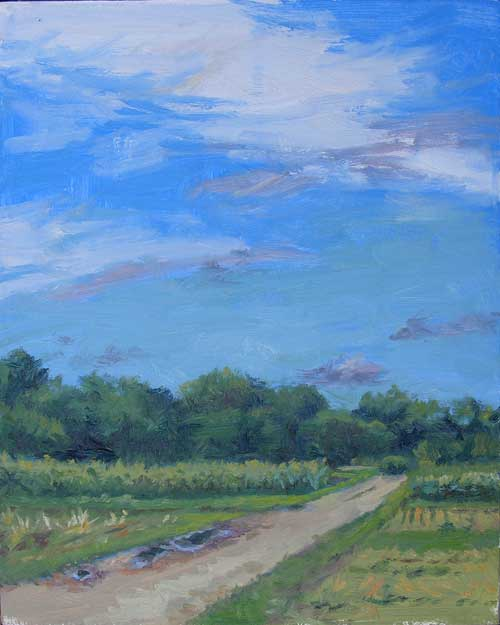 Mud Puddles | plein air painting after the rain
