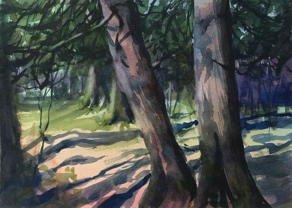 Oberg Mountain   watercolor   Jeffrey Smith