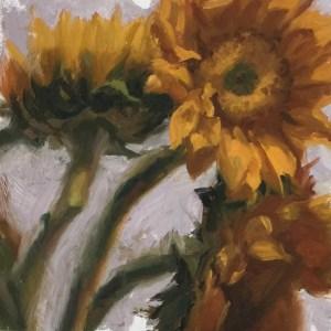 Sunflowers   oil on panel   Jeffrey Smith