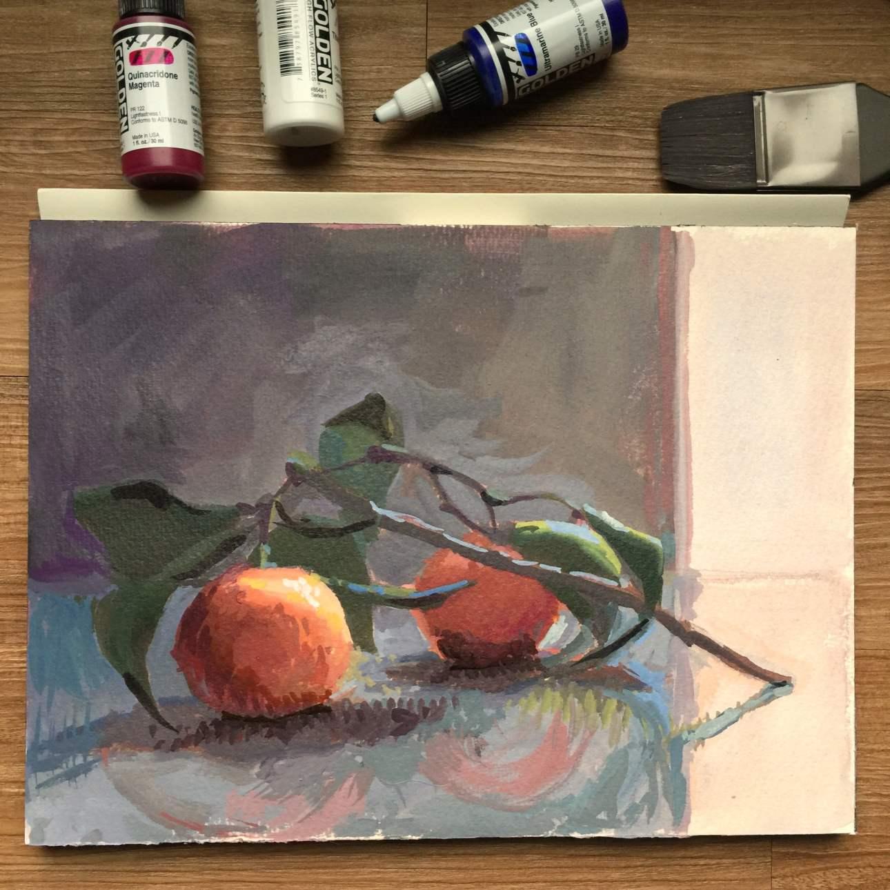 Orange Reflections   Jeffrey Smith