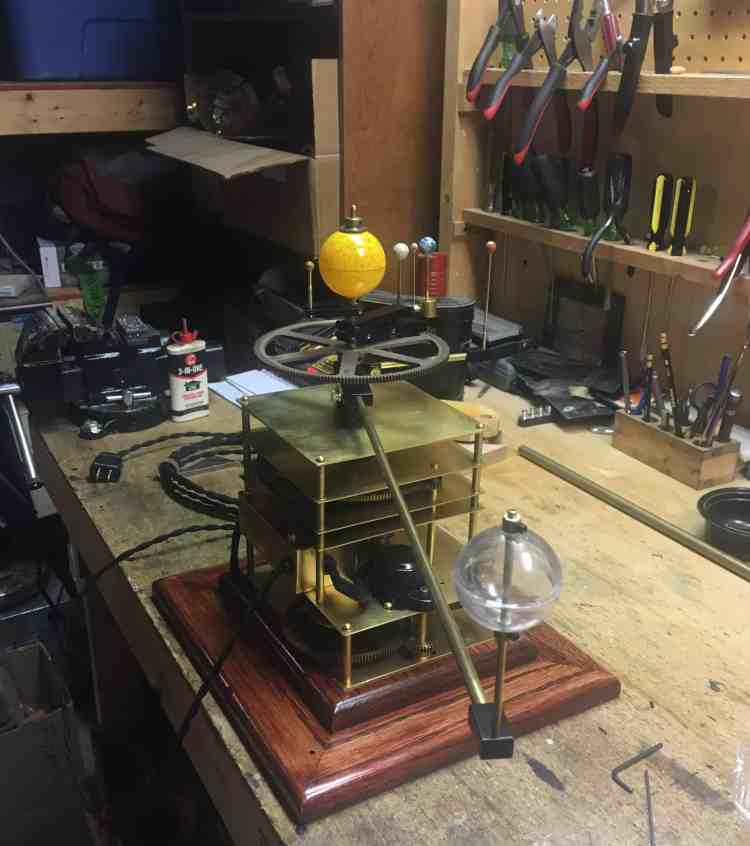 Orrery Jupiter clear mounted