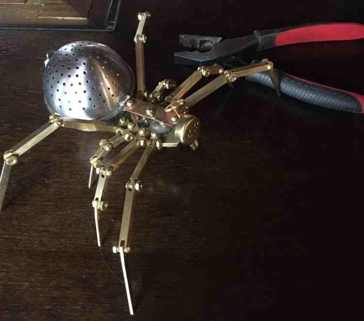 Steampunk Spider Sculpture