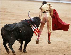 sports-injuries-matador-gored-in-butt