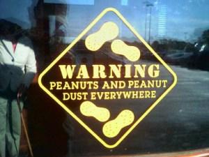 Peanut-warning-sign