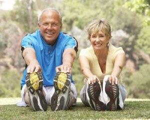 elderly-couple-stretching