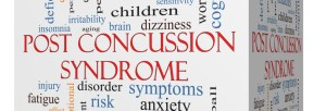 Post Concussion Syndrome 3D cube Word Cloud Concept with great terms such as brain, injury, trauma and more.