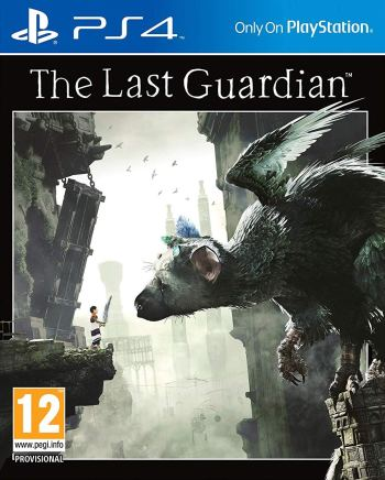 The official box art for the PAL version of The Last Guardian on PS4.