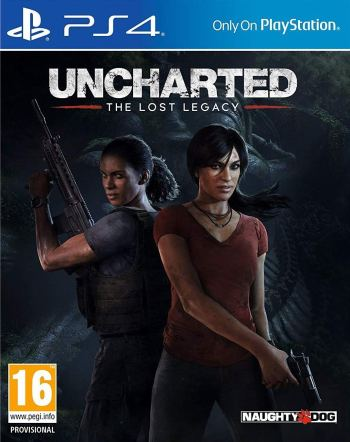 The official box art for the PAL version of Uncharted The Lost Legacy on PS4.