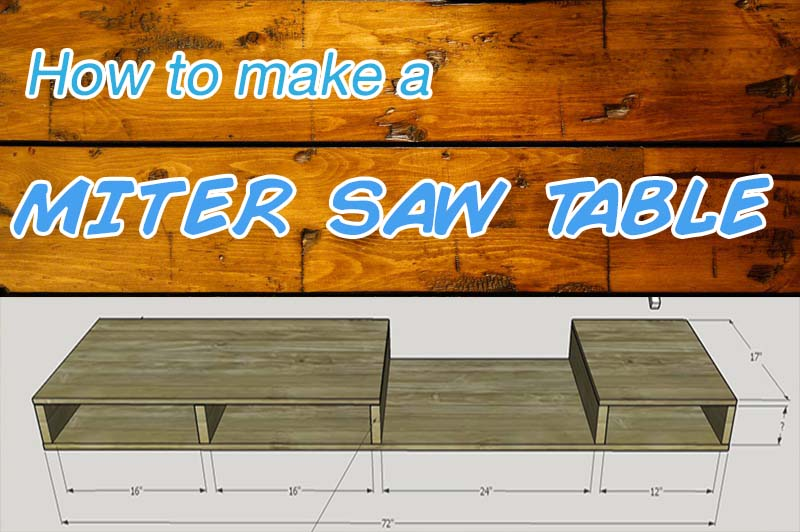 How to make a portable miter saw table