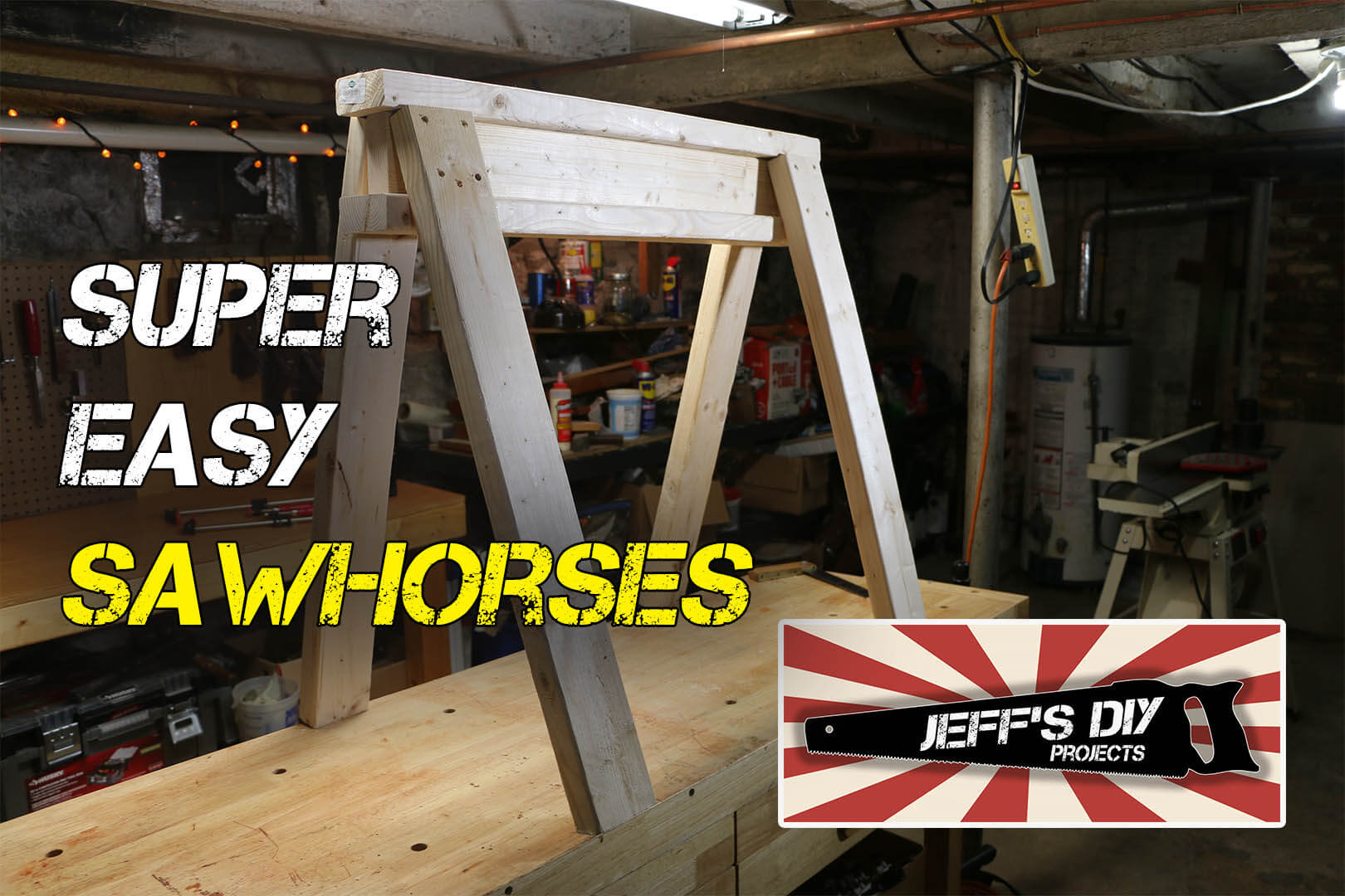 How to build easy & stackable sawhorses