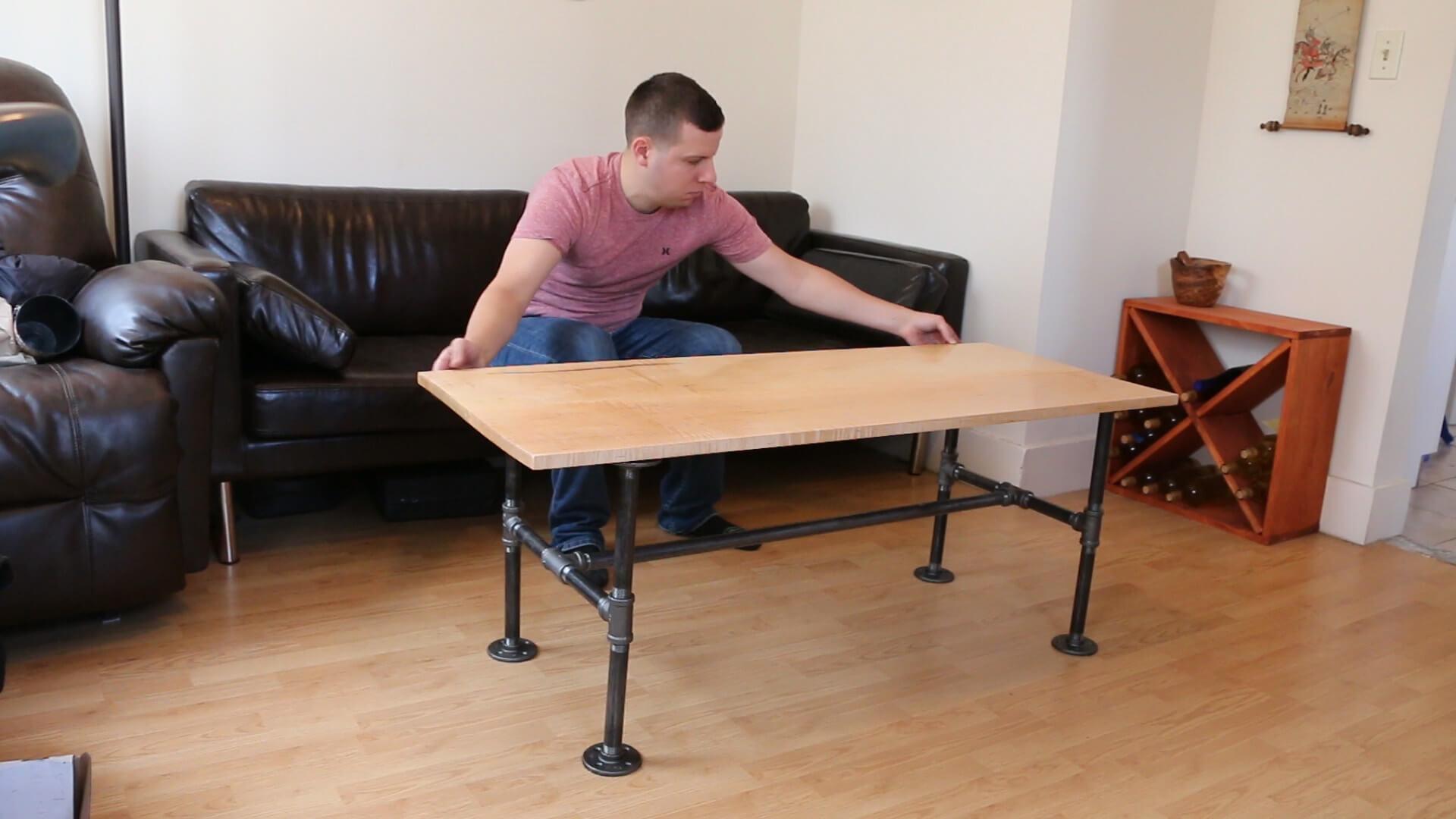 build a modern pipe leg coffee table
