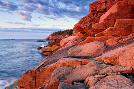 Morning sun on the granite coast. Near Otter Cliffs, Acadia National Park, Maine.