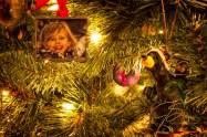 Nicole and Bear Christmas Tree Ornaments