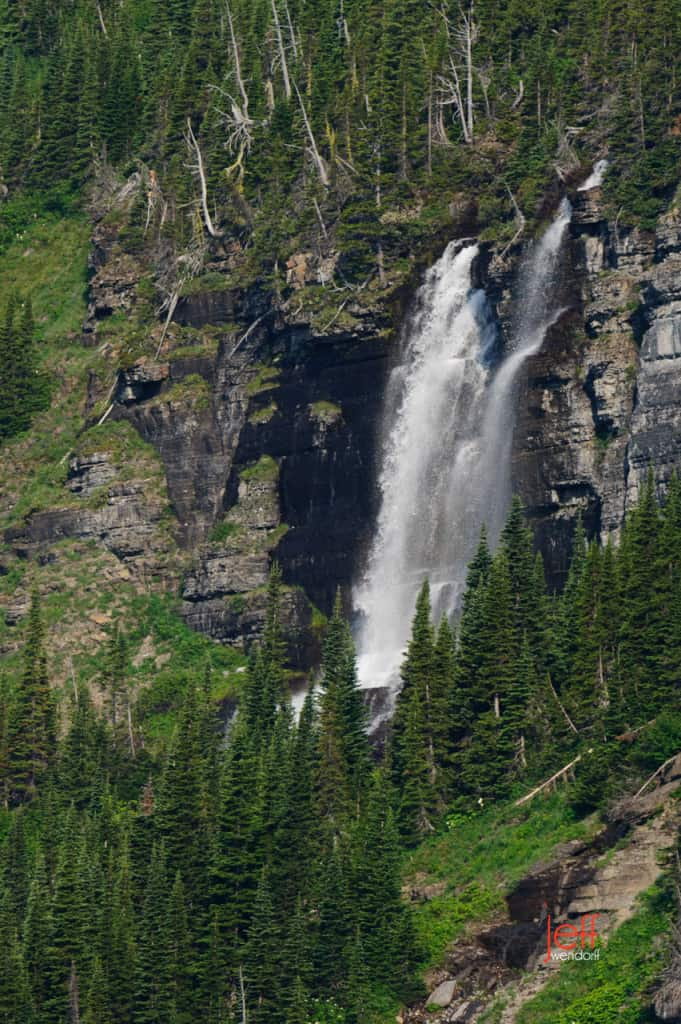 Unknown Waterfall - Glacier National Park photographed by Jeff Wendorff along Going to the Sun Road
