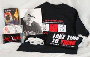 Jeff Yalden tshirt DVD bracelet