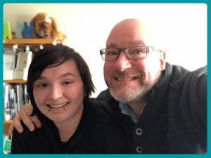 Teen Life Coach, Jeff Yalden saves a teen and visits her a year later.