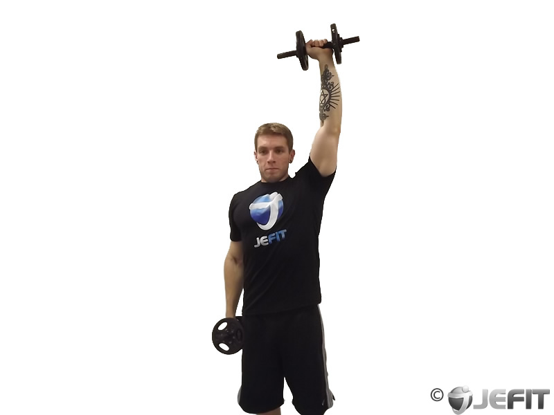 Dumbbell Standing One Arm Press Exercise Database