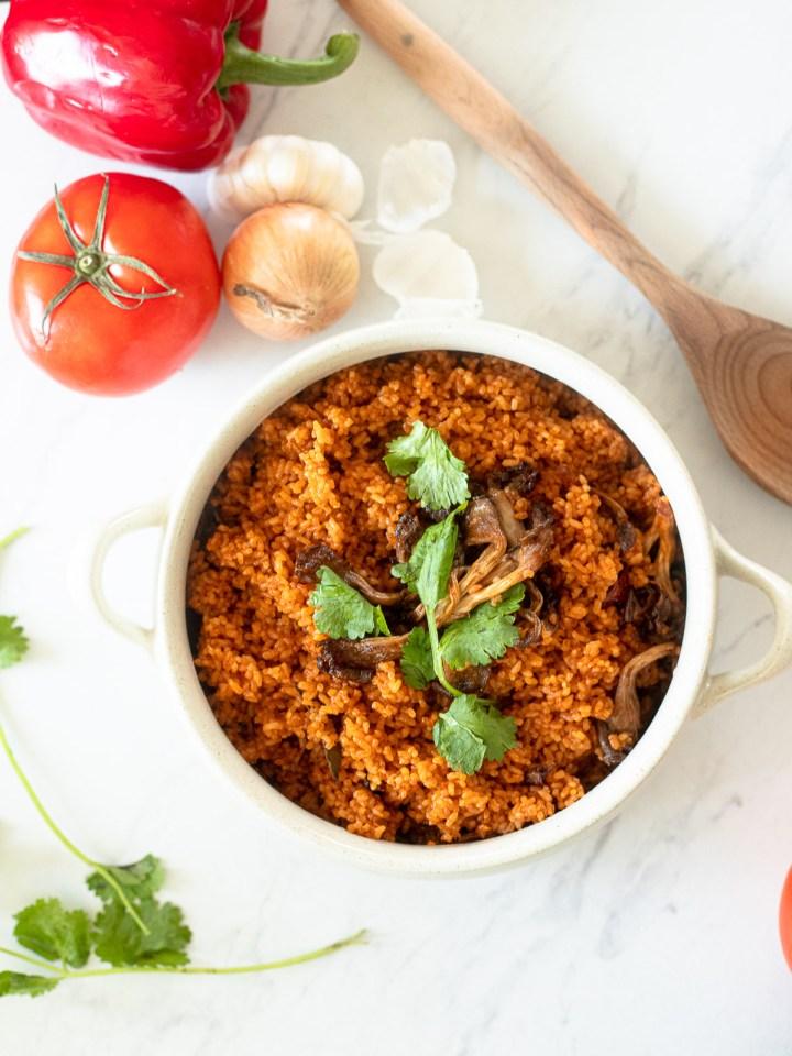 vegan jollof rice
