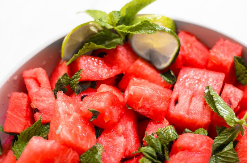 Easy 3 Ingredient Watermelon Salad