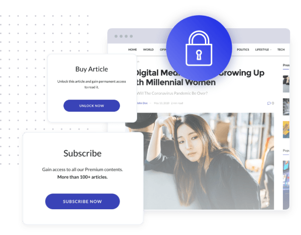 Jeg Paypal Paywall & Content Subscriptions System - WooCommerce Plugin - 3