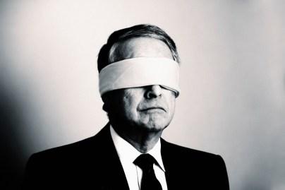 De knecht van Jehovah is blind