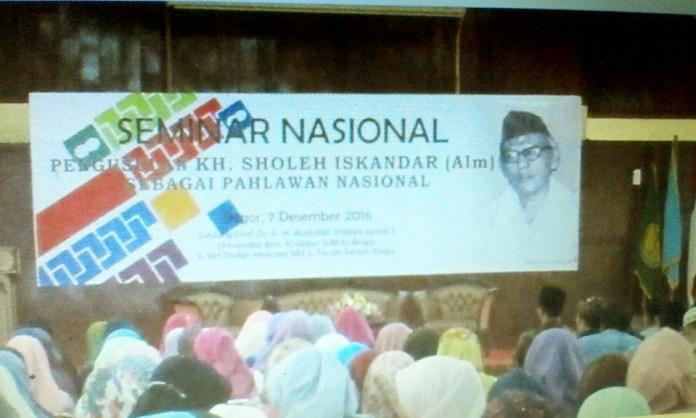 Seminar Nasional KH Sholeh Iskandar di UIKA Bogor. Sumber foto: Bapak Lukman Hakiem