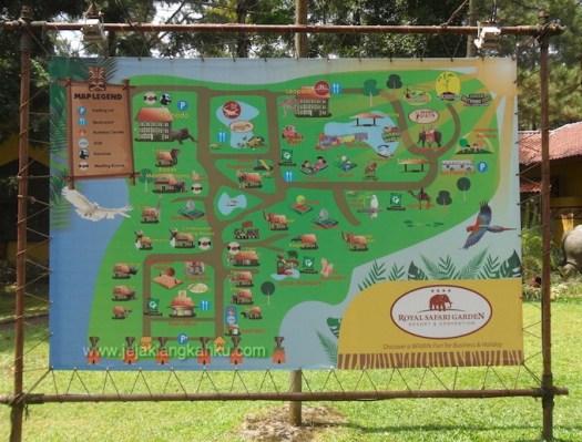 peta royal safari garden puncak taman safari