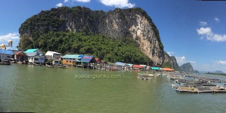 Kampung Nelayan Thailand rasa Jawa di Koh Panyee, Phuket