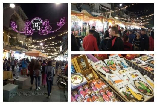 old quarter night market hanoi 1