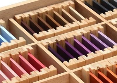3ème boîte de couleurs Montessori