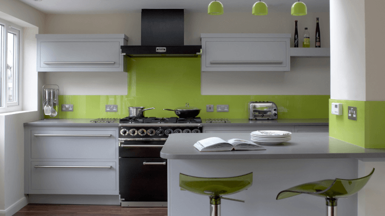 green kitchen cabinets design